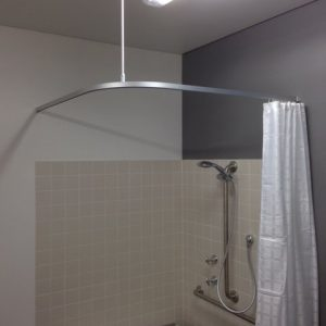Shower Rail and Curtain rom All tracks